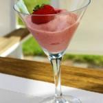 Strawberry banana semifreddo