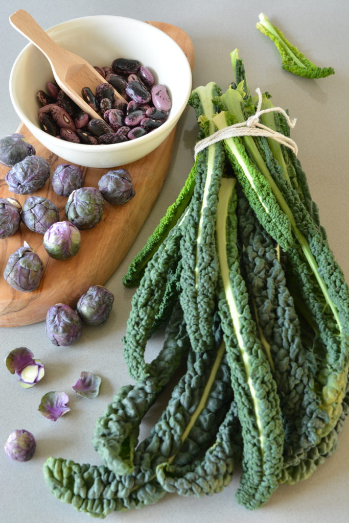 bean salad 2/2 cavolo nero with scarlet runner beans and